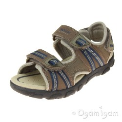 Geox Strada Boys Brown-Navy Sandal
