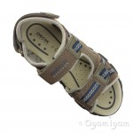 Geox Strada Boys Brown-Navy Sandal