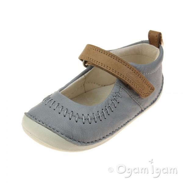 Clarks Little Atlas Infant Girls Light Grey Shoe