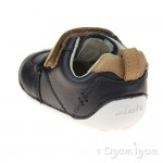 Clarks Tiny Aspire Infant Boys Navy Shoe