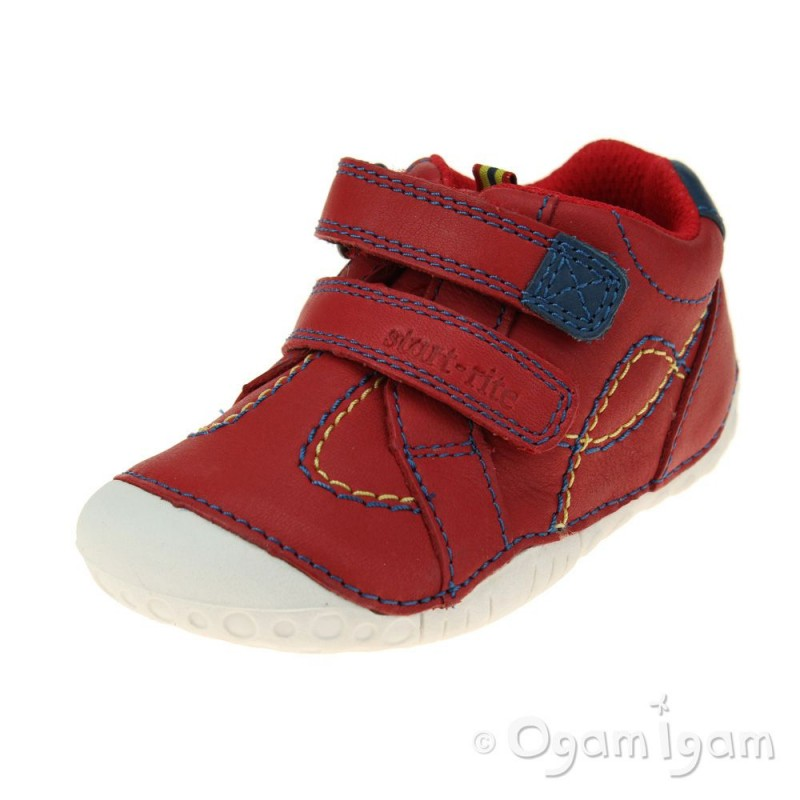 Start Rite Baby Turin Infant Boys Red Shoe Ogam Igam