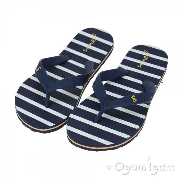 Joules French Navy Stripe Boys Flip Flop