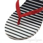 Joules Ombre Stripe Womens Navy Flip Flop