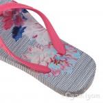 Joules Posy Stripe Girls Pool Blue Flip Flop