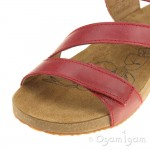Josef Seibel Tonga 25 Womens Red Sandal