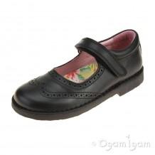 Petasil Claret 2 Black Girls Black School Shoe
