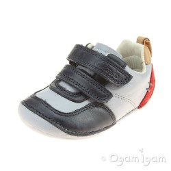Clarks Tiny Cap Infant Boys Blue Combi Shoe