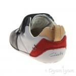 Clarks Tiny Cap Infant Boys Blue Combi Shoe