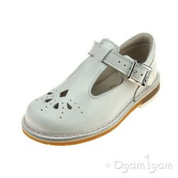 Clarks Yarn Weave Fst Girls White Patent Shoe
