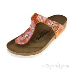 Birkenstock Gizeh Womens Shiny Snake Orange Sandal