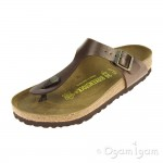 Birkenstock Gizeh Womens Toffee Metallic Brown Sandal