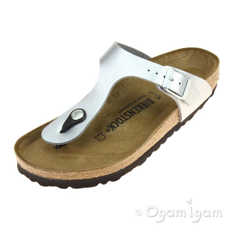 Birkenstock Gizeh Toe-Post Sandal Womens Silver Sandal  c6a8bead73