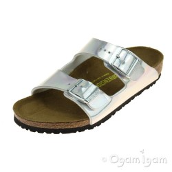 Birkenstock Arizona Kids Girls Mirror Silver Sandal