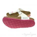 Birkenstock Gizeh Kinder Girls White-Pink Sandal