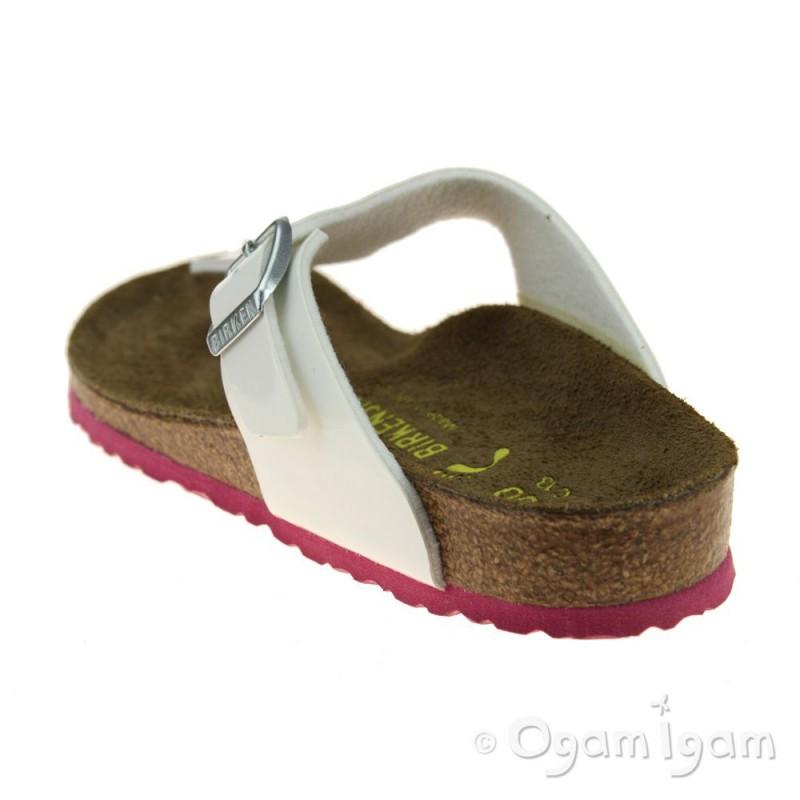 birkenstock gizeh kinder girls white pink sandal ogam igam. Black Bedroom Furniture Sets. Home Design Ideas