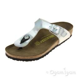 Birkenstock Gizeh Kids Girls Mirror Silver Sandal
