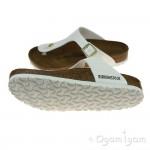 Birkenstock Gizeh Womens White Patent Sandal