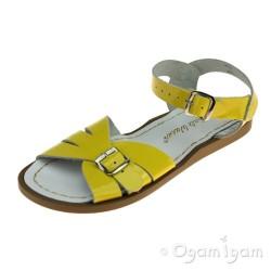 Salt-Water Classic Girls Shiny Yellow Sandal