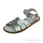 Salt-Water Original Girls Silver Sandal