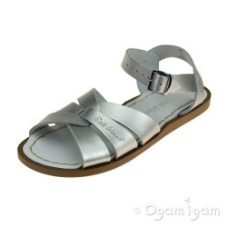 Salt-Water Original Girls Silver Sandal