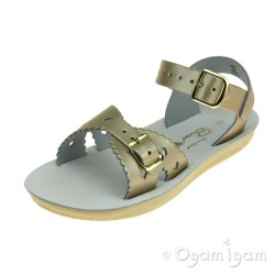 Salt-Water Sweetheart Girls Gold Sandal
