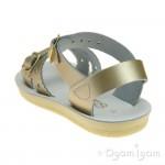Salt-Water Sweetheart Girls Gold Sandal