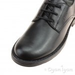 Geox Sofia Girls Black School Shoe