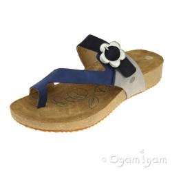 Josef Seibel Tonga 23 Womens Blue Multi Sandal