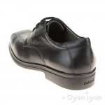Geox Federico Boys Black School Shoe