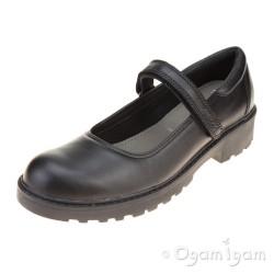 Geox Casey Girls Black School Shoe