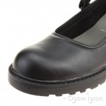 Geox Casey Girls Black School Shoe