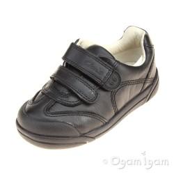 Clarks LilfolkZoo Inf Boys Black School Shoe