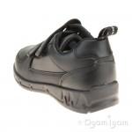 Clarks Maris Fire Inf Boys Black School Shoe