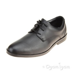 Clarks Rufus Edge BL Boys Black Shoe