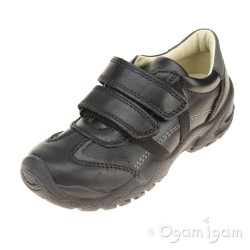 Primigi PHA 8664 Boys Black School Shoe