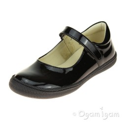 Primigi PTF 8136 Girls Black Patent School Shoe