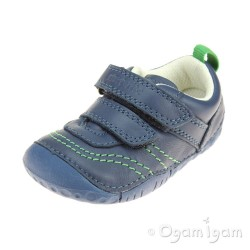 Start-rite Baby Leo Infant Boys Blue Shoe