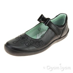 Start-rite Princess Elza Girls Black School Shoe