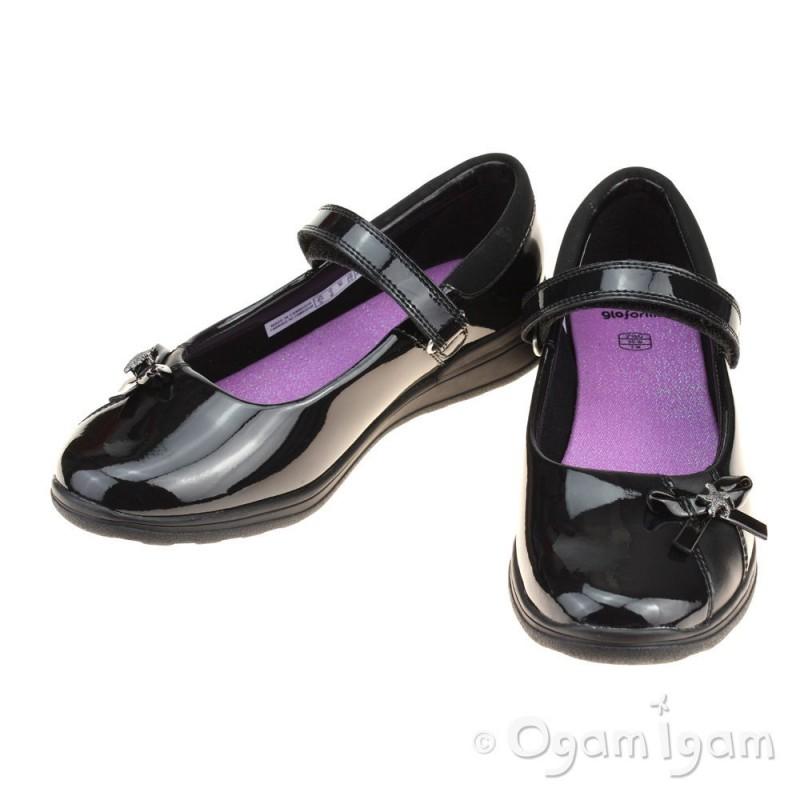 af1e4d599754 ... Clarks Mariel Wish Jnr Girls Black Patent School Shoe ...