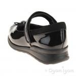 Clarks Mariel Wish Inf Girls Black Patent School Shoe