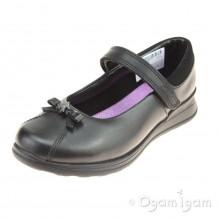Clarks Mariel Wish Inf Girls Black School Shoe
