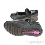 Clarks Mariel Wish Inf Girls Black School Shoe