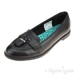 Clarks PreppyEdge BL Girls Black School Shoe