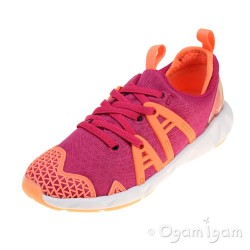 Clarks LuminousGlo Jnr Girls Pink Combi Trainer