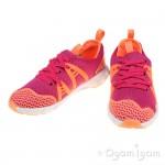 Clarks LuminousGlo Jnr Girls Pink Combi Trainer