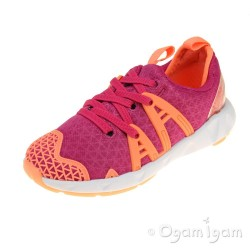 Clarks LuminousGlo Inf Girls Pink Combi Trainer