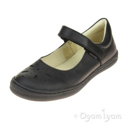 Primigi PTF 8135 Girls Black School Shoe