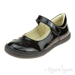 Primigi PTF 8135 Patent Girls Black Patent School Shoe