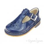 Clarks Yarn Weave Girls Blue patent Shoe