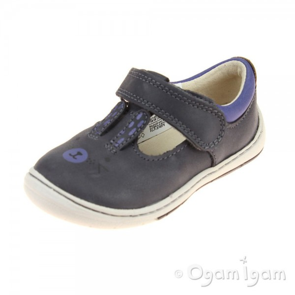 Clarks Amelio Glo Fst Girls Anthracite Shoe